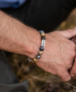 Stones Fundamental Black Moss 10mm Wristshot