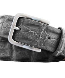 croco ceintuur ''echt'' grijs